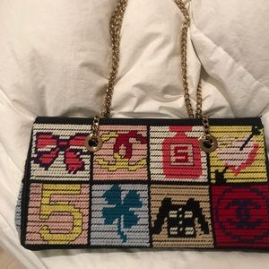 Chanel Tweed Patchwork Vintage Bag